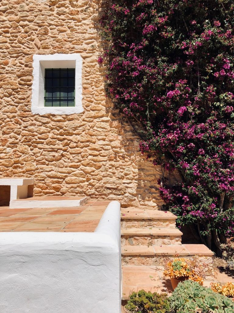 Traditional Ibizan architecture matches with biophilic, romantic tendencies.