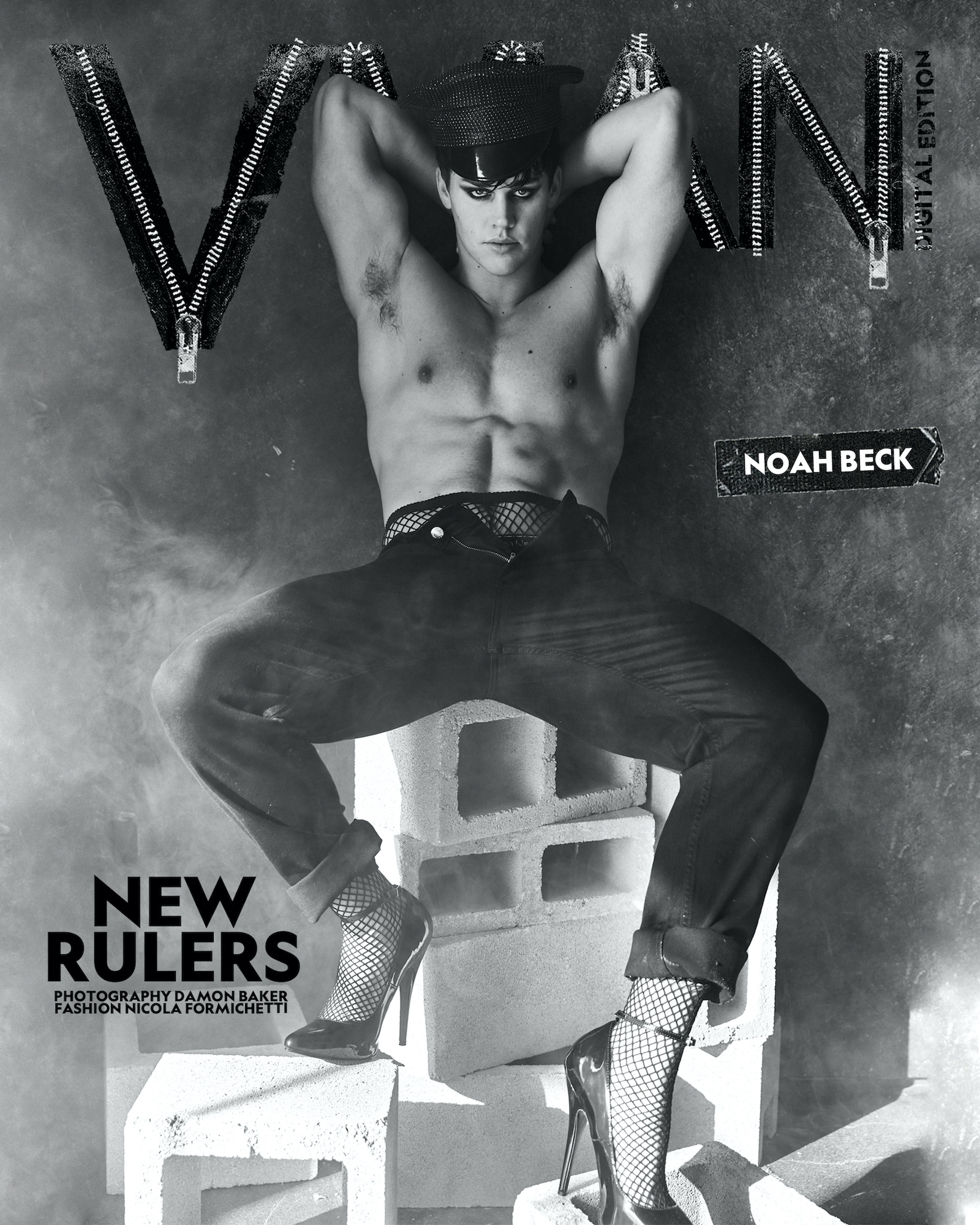 Noah wears pants Calvin Klein / shoes and accessories stylist's own