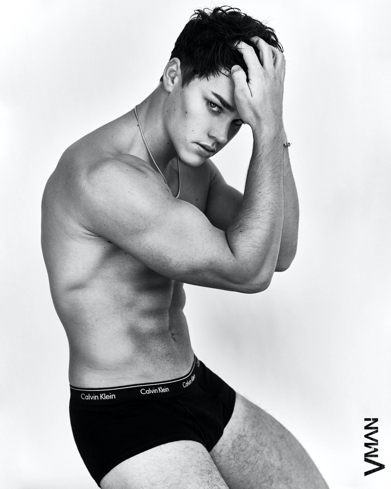 Noah wears underwear Calvin Klein / jewelry stylist's own